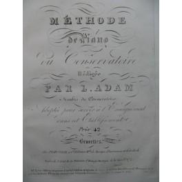 ADAM Jean-Louis Méthode de Piano du Conservatoire 1806