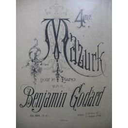 GODARD Benjamin 4e Mazurk op 103 Piano XIXe