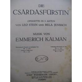 KALMAN Emmerich Die Csardasfürstin Opérette Chant Piano 1916