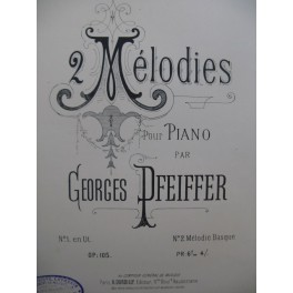 PFEIFFER Georges Mélodie Piano XIXe siècle