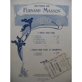 MASSON Fernand Prélude Piano 1903