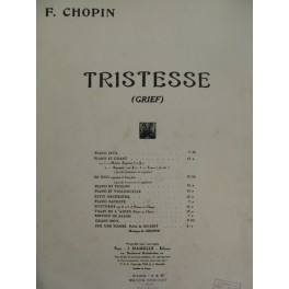 CHOPIN Frédéric Tristesse Chant Piano 1942