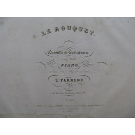 FARRENC Louise Le Bouquet Piano ca1840