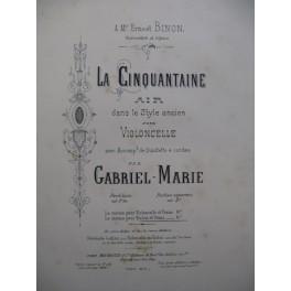 GABRIEL-MARIE La Cinquantaine Violon Piano 1886