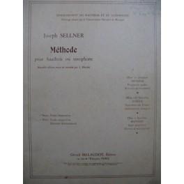 SELLNER Joseph Méthode Etudes Hautbois ou Saxophone