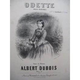 DUBOIS Albert Odette Piano 1856