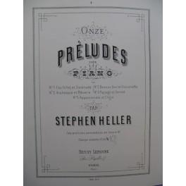 HELLER Stephen Paysage et Sonnet Piano XIXe siècle