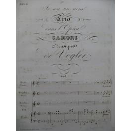 VOGLER G. J. Samori No 8 Trio Chant Piano XIXe