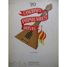 Canciones Populares Rusas 20 Pièces Chant Piano 1955