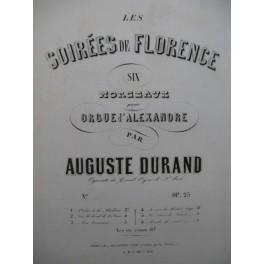 DURAND Auguste Prière à La Madone Orgue XIXe