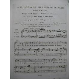 CATEL Ch. S. Wallace ou Le Ménestrel Ecossais Chant Piano ou Harpe ca1810