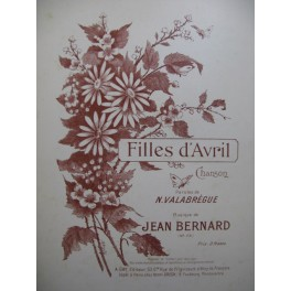 BERNARD Jean Filles d'Avril Chant Piano