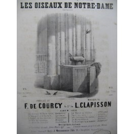 CLAPISSON Louis Les Oiseaux de Notre-Dame Chant Piano 1852