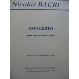 BACRI Nicolas Concerto pour Trompette Piano 1993