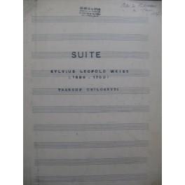 WEISS Sylvius Leopold Suite Manuscrit Guitare
