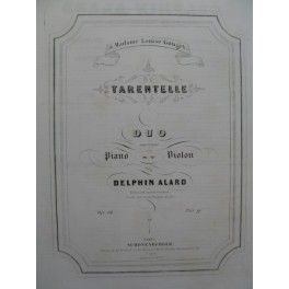 ALARD Delphin Tarentelle op 14 Violon Piano ca1845