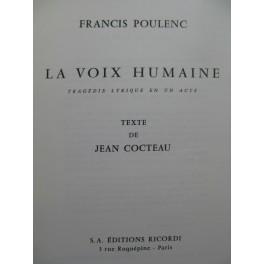 POULENC Francis La Voix Humaine Chant Piano 1959