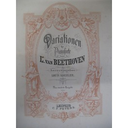 BEETHOVEN Ludwig van Variationen Band 1