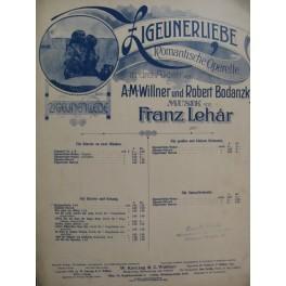 LEHAR Franz Heckenröslein Lied Chant Piano 1910