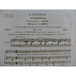 JADIN L. L'Infidèle Chant Piano ca1830