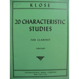 KLOSÉ H. 20 Characteristic Studies for Clarinet Clarinette
