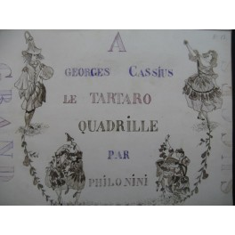 PHILONINI Le Tartaro Quadrille Manuscrit Piano XIXe