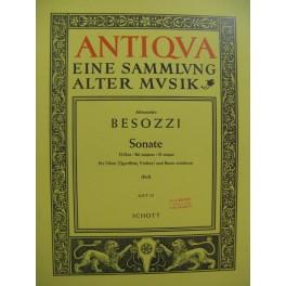 BESOZZI Alessandro Sonate D Dur Hautbois Basse continue