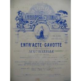 THOMAS Ambroise Entr'acte Gavotte Piano 4 mains XIXe