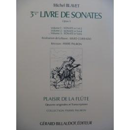 BLAVET Michel 3e Livre de Sonates Vol 3 Flute Piano ou Clavecin