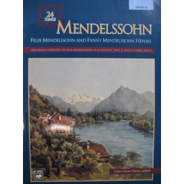 MENDELSSOHN 24 Songs Chant Piano 1992