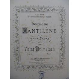 DOLMETSCH Victor Cantilène No 2 Piano 1885