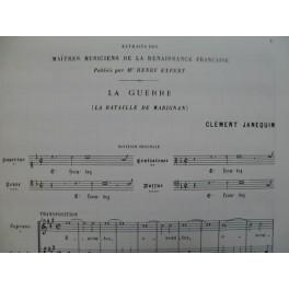 JANEQUIN Clément La Guerre La Bataille de Marignan Renaissance Chant 1970