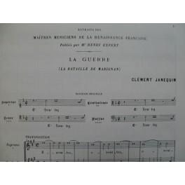 JANEQUIN Clément La Guerre La Bataille de Marignan Renaissance Chant 1970