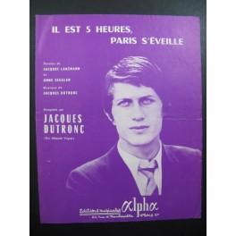"""Jacques DUTRONC Il est 5 Heures Paris S""""éveille Chanson"""