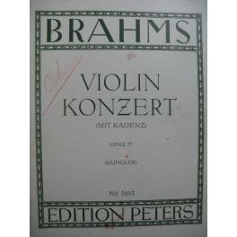 BRAHMS Johannes Violin Konzert Concerto op 77 Violon Piano