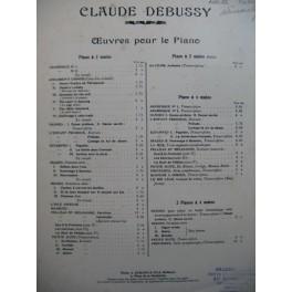 DEBUSSY Claude Et la Lune descend sur le temple qui fut Piano 1908