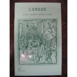 L'ORGUE Revue N° 218 Avril Juin 1991