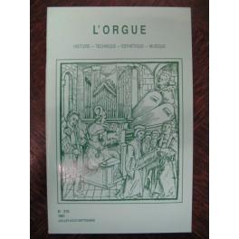 L'ORGUE Revue N° 219 Juillet Septembre 1991