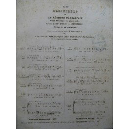 CARAFA Michele Masaniello Opera No 5 Chant Piano ca1845