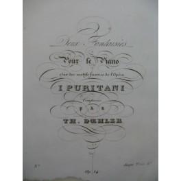 DÖHLER Th. Deux Fantaisies Piano 1838