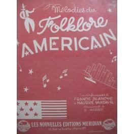 Mélodies du Folklore Américain 17 Pièces Chant Piano 1945