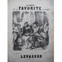 HERVÉ Le Favori de la Favorite Parodie Levassor Chant Piano ca1858