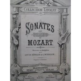 MOZART W. A. Sonates reliées Piano XIXe