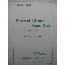 FORET Félicien Pâtres et Rythmes Champêtres Piano Hautbois ou Saxophone ca1936