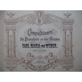 WEBER Compositionen 20 Pièces Piano 4 mains XIXe