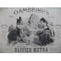METRA Olivier Gambrinus Valse Piano 4 mains 1876