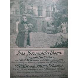 SCHUBERT Franz Das Dreimäderlhaus Opera Chant Piano 1916