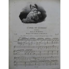 DE BEAUPLAN Amédée L'Ange et l'Enfant Chant Piano ca1830