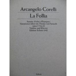 CORELLI Arcangelo La Follia Piano Violon ou 2 Violons