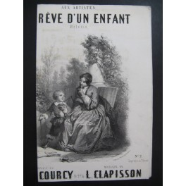 CLAPISSON Louis Le Rêve d'un Enfant Chant Guitare ca1837